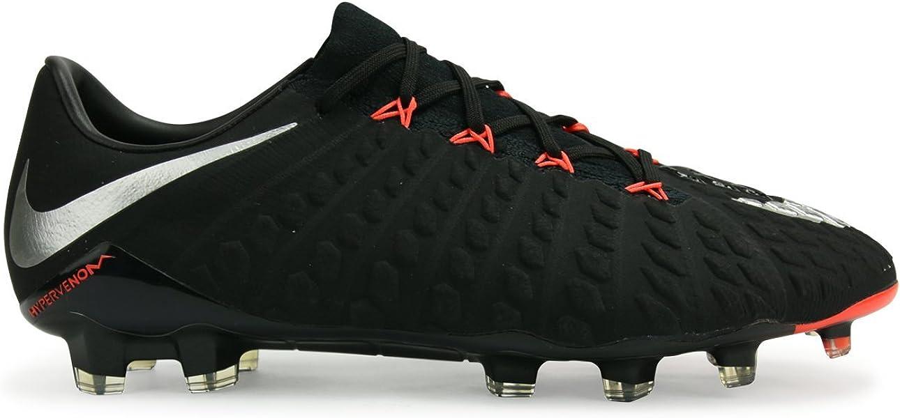 5d655f260801f NIKE Men s Hypervenom Phantom III FG Black Metalic Silver Anthracite Soccer  Shoes - 7A  Amazon.co.uk  Shoes   Bags