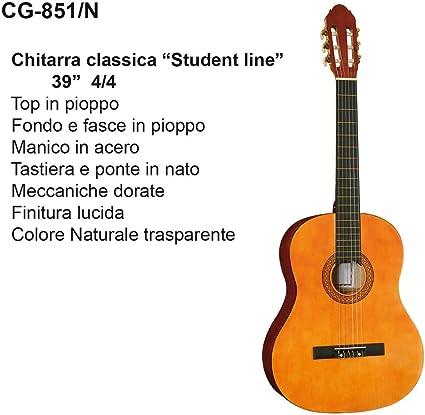 Guitarra Classic de Studio 4/4 Dam CG 851 Natural: Amazon.es ...