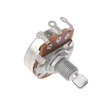 Potenciómetro B500K para guitarra eléctrica, efecto de bajo, amplificador de sonido, volumen: Amazon.es: Hogar