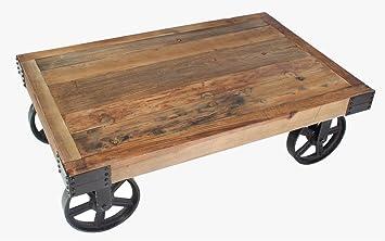 Industrie Look Bauhaus Couchtisch Massivholz Tisch Design ...
