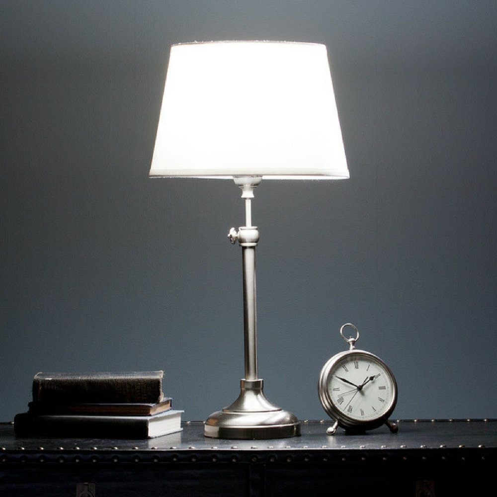 Telescoping Adjustable Height Dawn Table Lamp, UL listed