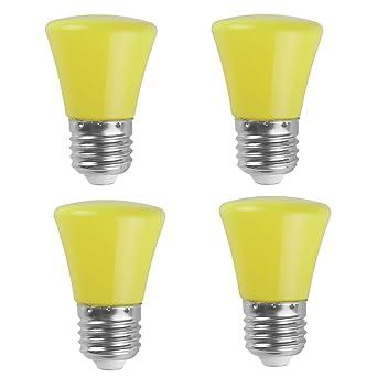 Ampoule Led Couleur Jaune Lampe 2w Pour Veilleuse Atmosphere Fete