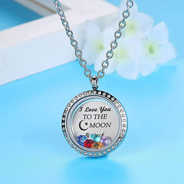 Silver BOY Birthstone  HGC1001-S Floating Charm for Glass Memory Locket You Choose