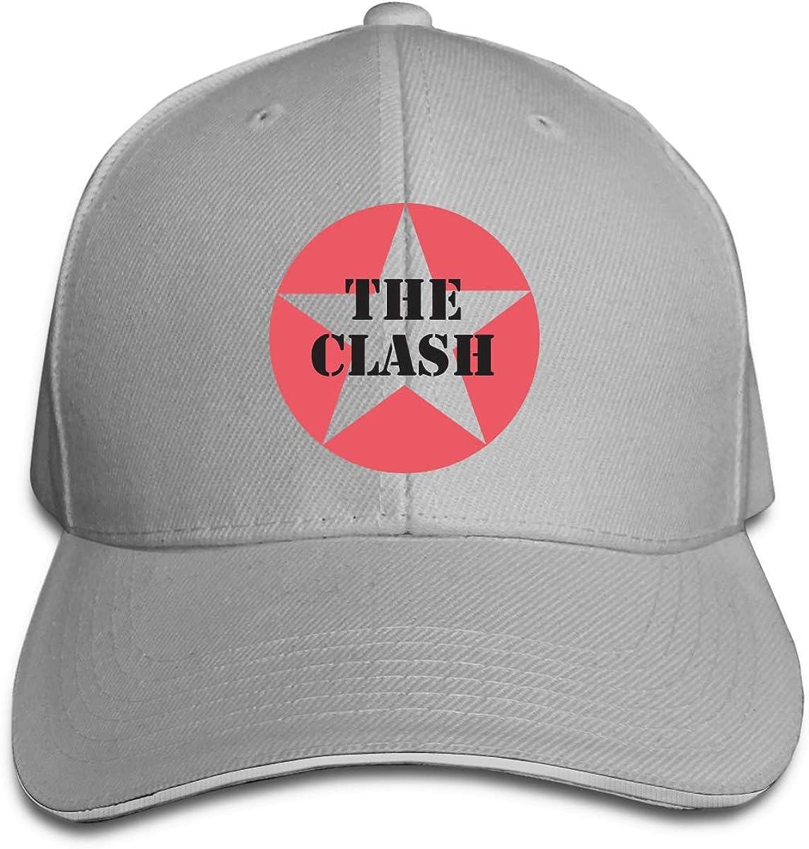 The Clash Fashion Sandwich Baseball Cap Adjustable Curved Visor Hat
