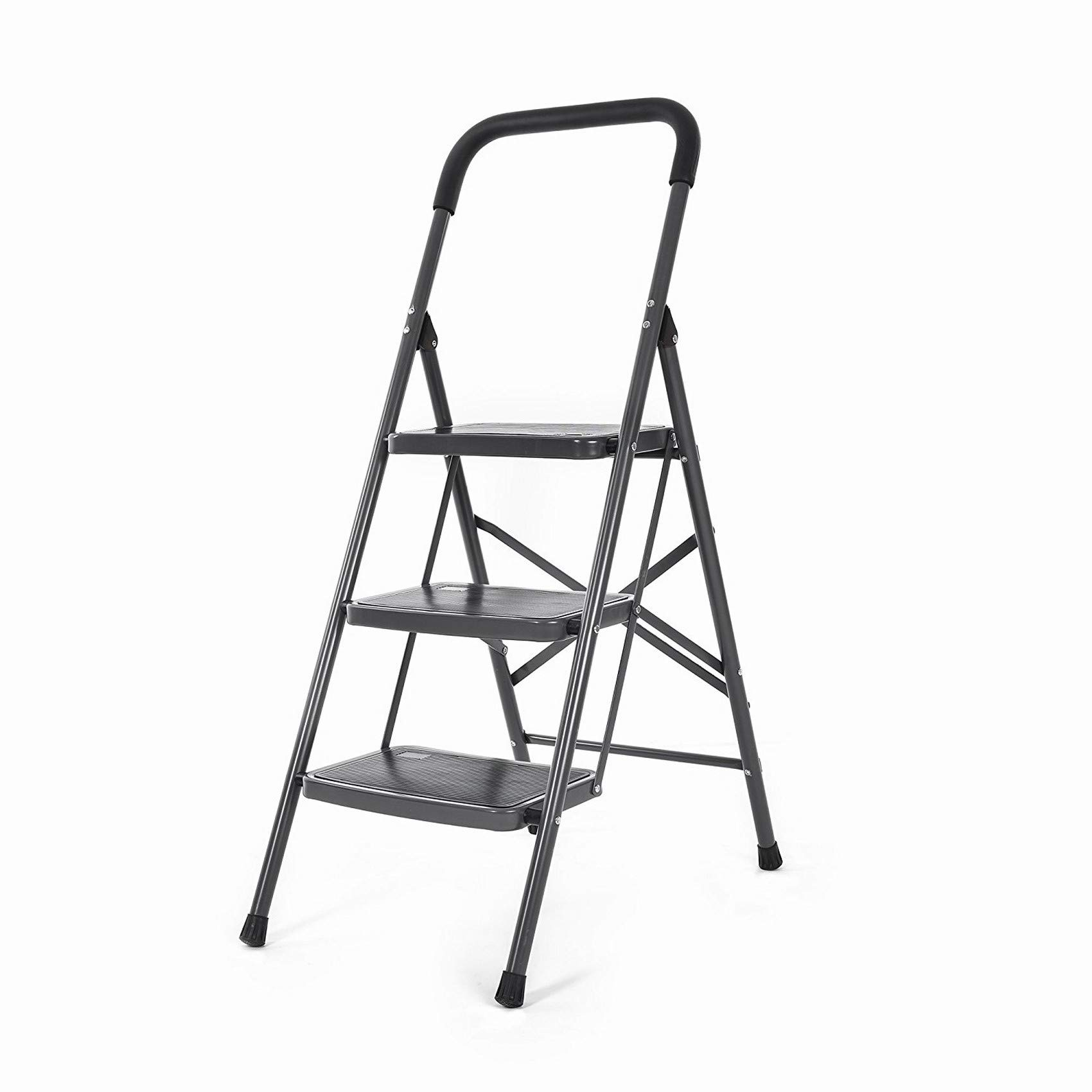 Bathla Boost 3-Step Foldable Steel Ladder with Anti-Slip Steps product image