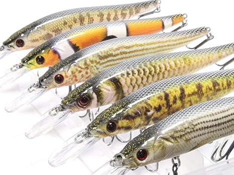 wLure Señuelo de Pesca Minnow Crankbait para lubina, with Tackle ...
