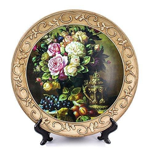 ZHAMS 10'' Ceramic Decorative Plate, Art Decoration (A)