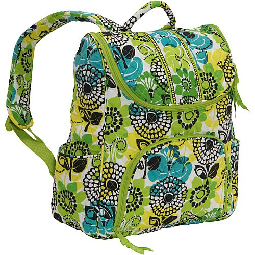- Vera Bradley Double Zip Backpack (Lime's Up)