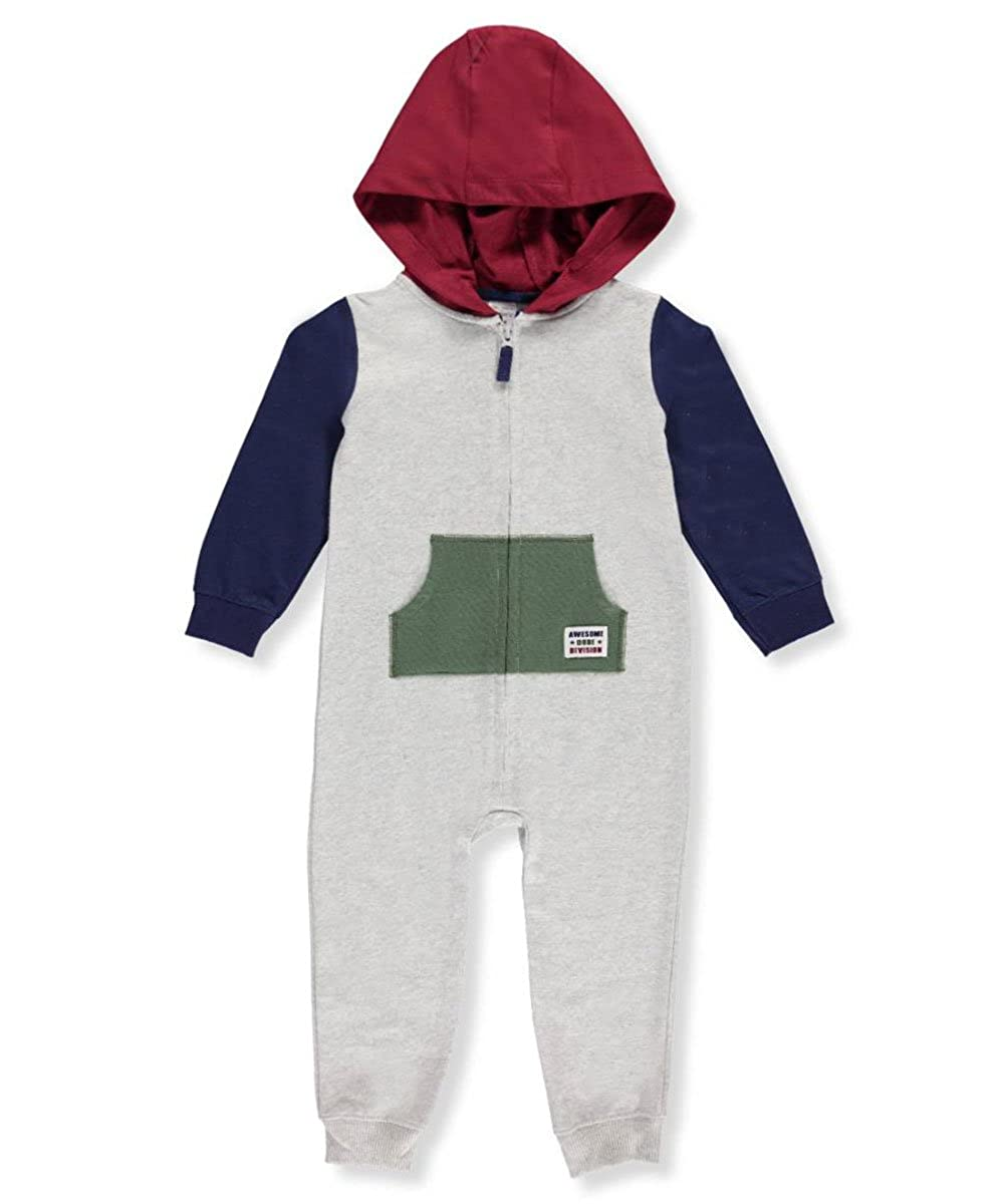 98efd4c9005 Amazon.com  Carter s Baby Boys  Hooded Colorblock Jumpsuit  Clothing