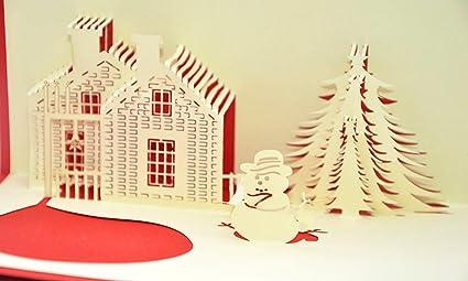 Foto Con Auguri Di Buon Natale.Medigy Christmas Cards 3d Pop Up Biglietti Di Auguri Di Buon