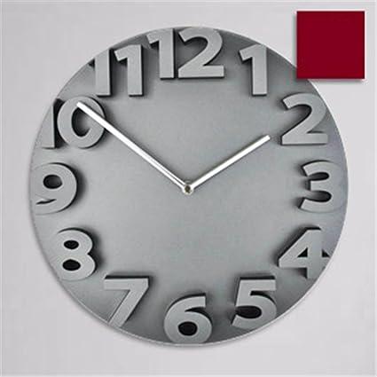 V-AFEI Reloj De Pared Digital Estéreo De Moda Mute Salón Cocina Dormitorio Sencillo Reloj