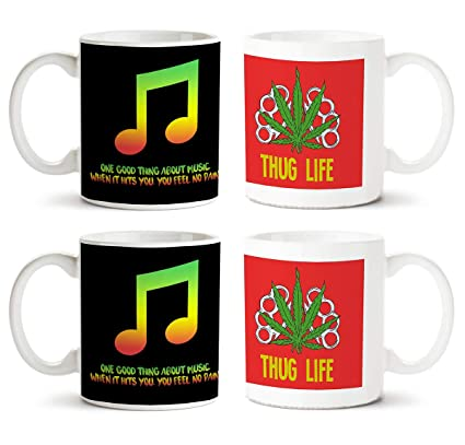 buy motivate box music quotes and thug life red green designs on