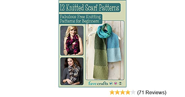 12 Knitted Scarf Patterns Fabulous Free Knitting Patterns For