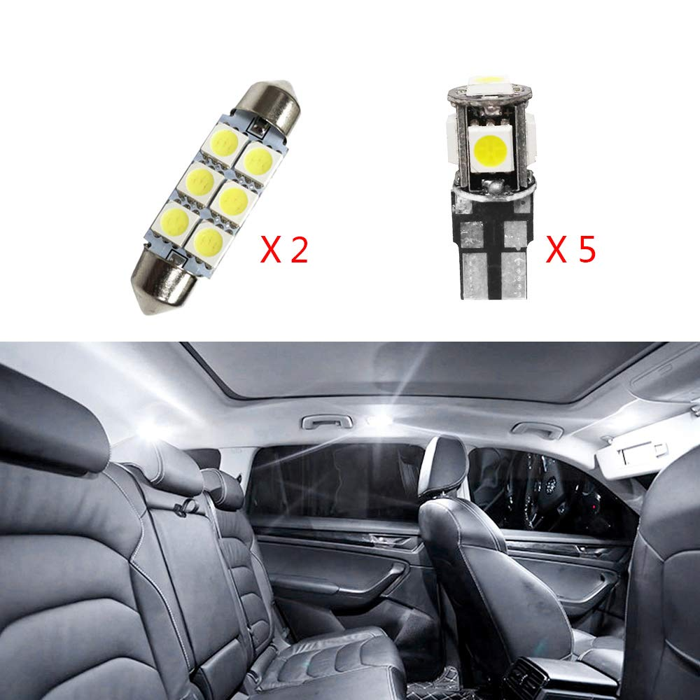 For A5 S5 Super Bright LED Interior Lights Source Car Lamp Replacement Bulbs White Pack of 11