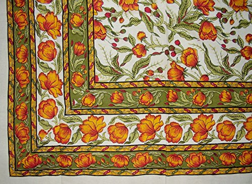 French Floral Tapestry Cotton Bedspread 106