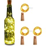 XERGY Bottle Lights Battery Powered, Cork Shaped Fairy String DIY, Party, Decor(Pack of 3) (20LED, 2 Meters) Christmas NYE Decoration Lights
