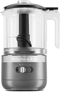 KitchenAid KFCB519DG Cordless Chopper, 5 cup, Matte Charcoal Grey