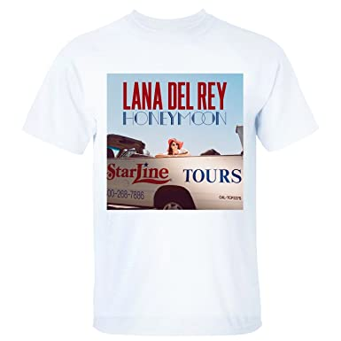 PTTH Mens Lana Del Rey Honeymoon Cover T-Shirt white S