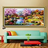 #8: 5D DIY Dream Home Crystal Full Diamond Rhinestone Painting By Number Cross Stitch Kit Embroidery Craft Home Decor (48'' x 24'', 120cm x 60cm)