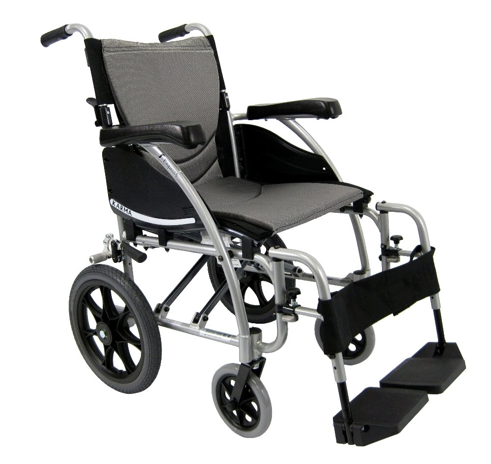 Karman Healthcare S-115-TP Ergonomic Ultra Lightweight Manual Wheelchair, Pearl Silver, 16 Inches Seat Width