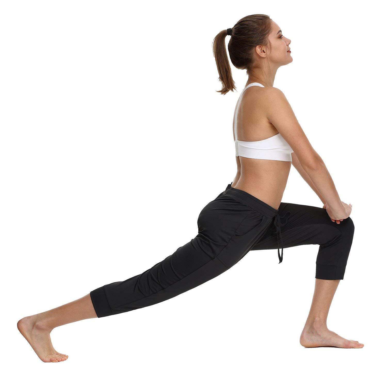 Baleaf Womens Capri Jogger Sweatpants Active Yoga Running Lounge Pants