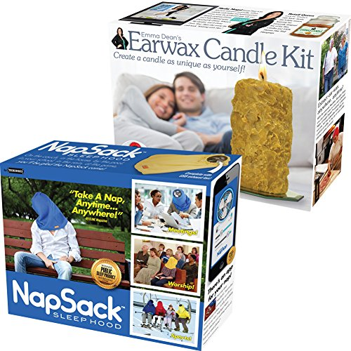 CloseoutZone (Set) Napsack & Earwax Candle Gag and Prank Gift Boxes Hide Real Gift Inside (Fake Candle App)