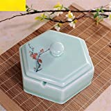 Best Ceramic Ashtray Of Squares - Creative square ceramic ashtray home living room large Review