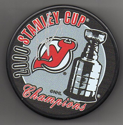 Martin Brodeur Autographed Puck New Jersey Devils 2000 Stanley Cup Champs