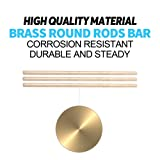 Glarks 15pcs Brass Round Rod Lathe Bar Stock for