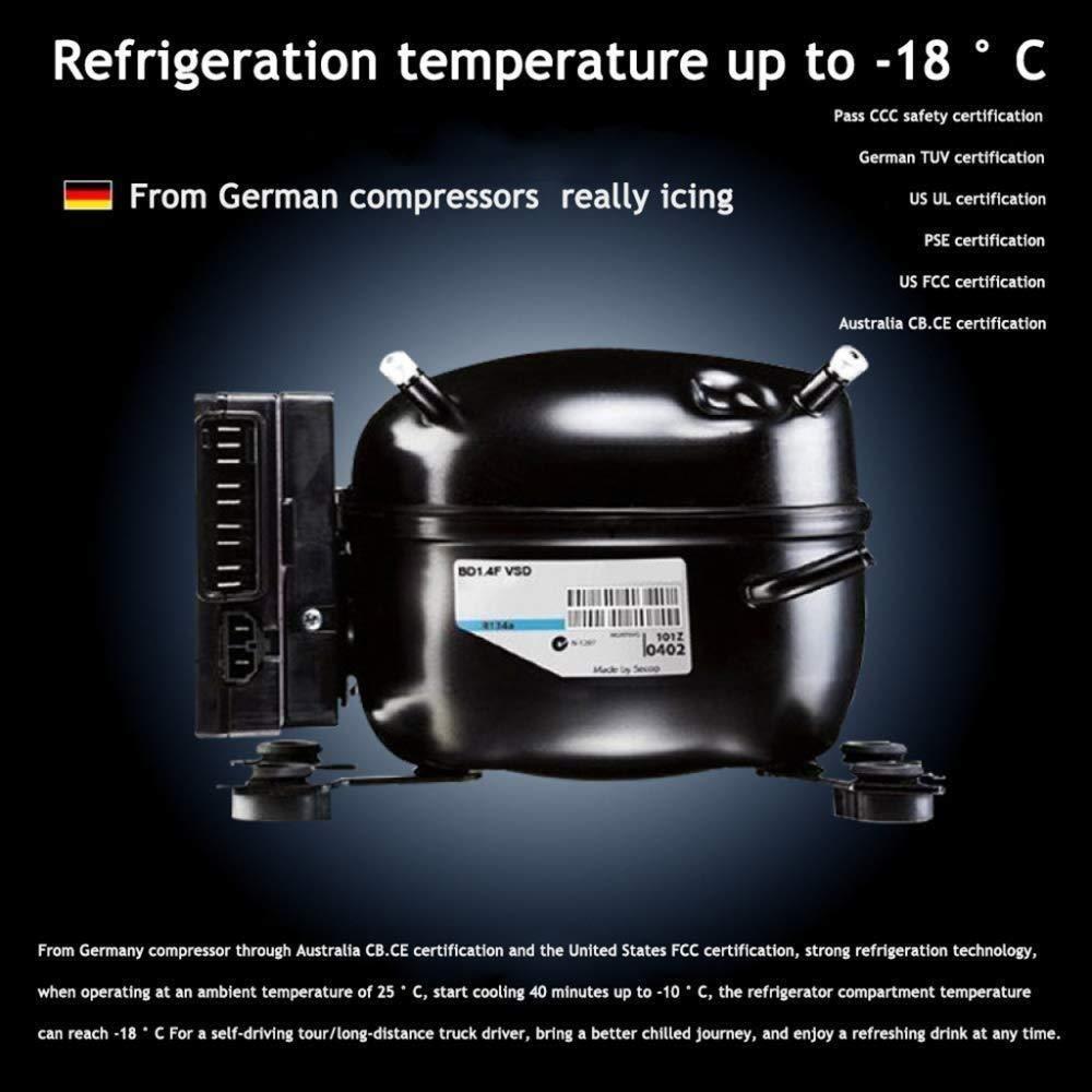 Mini Nevera 40L Black Coolbox Compressor Nevera Congelador, 12v ...