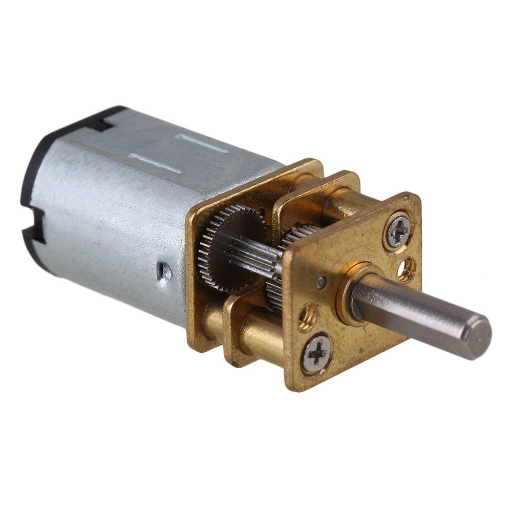 Yibuy 5pcs DC3V 15RPM Motor para Caja de Cambios El/éctrica de Alta Velocidad