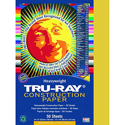 Tru-Ray 102997 Heavyweight Construction Paper (Pack of 50)