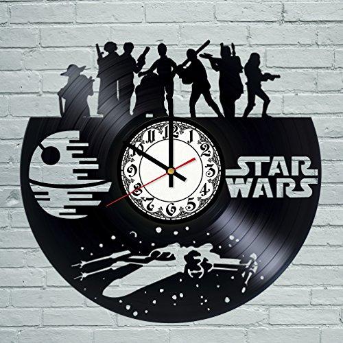 Movie Characters Design Vinyl Record Wall Clock / Gift idea for men and women / Original living room wall decor / Unique Fantasy Movie Fan Art]()