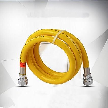 Manguera Wddwarmhome 304 de acero inoxidable de gas de tubería de gas natural de tuberías de
