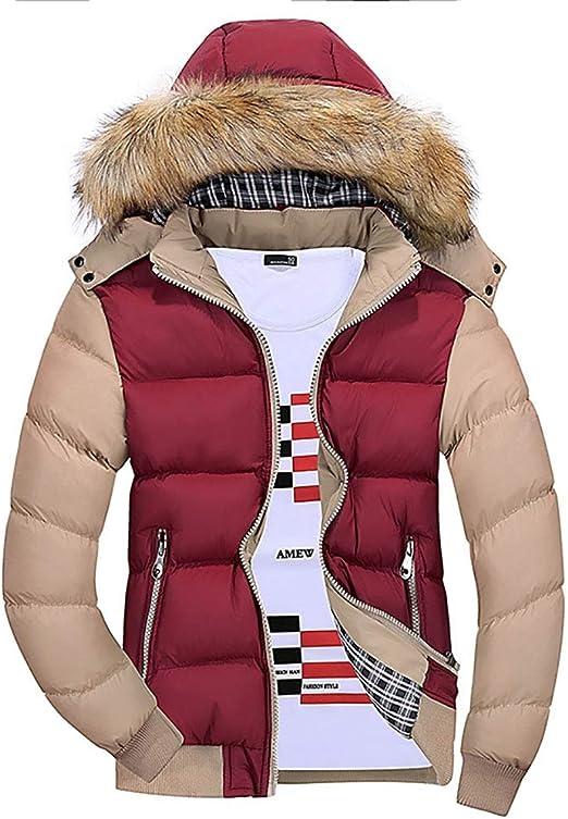 メンズパーカーコットンパッド入りコート冬厚みのジャケットアウターファッションフェイクファーカラー