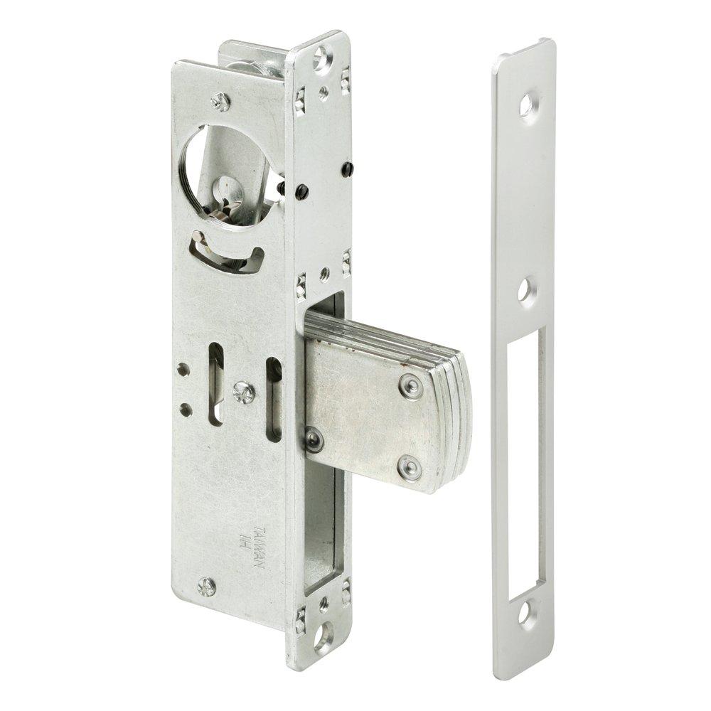 Prime-Line J 4524 Entry Door Deadbolt Lock, 31/32 Inch Backset, Steel, Aluminum Finish, Pack of 1
