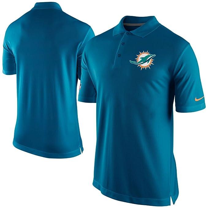 Para hombre Nike NFL Miami Dolphins de fútbol americano polo golf camiseta Aqua: Amazon.es: Ropa y accesorios