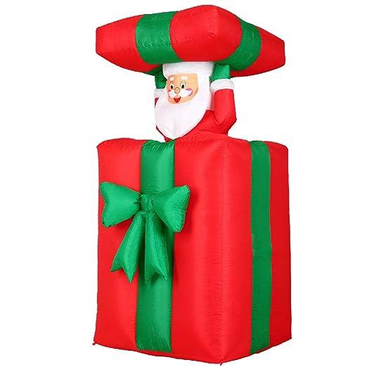 Monzana Papá Noel en paquete inflable luces de navidad decoración ...