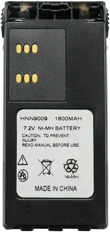 Hi-Capacity Battery for Motorola HT750 HT1250 PRO5150 GP328 7.2 NI-MH 1700mAh with Belt Clip and Warrant Non-OEM