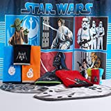 Star Wars Bath Set, Shower Curtain, Hooks, Rug, 1 Bath Towel, 1 Hand Towel, and Washcloths- Designs may vary