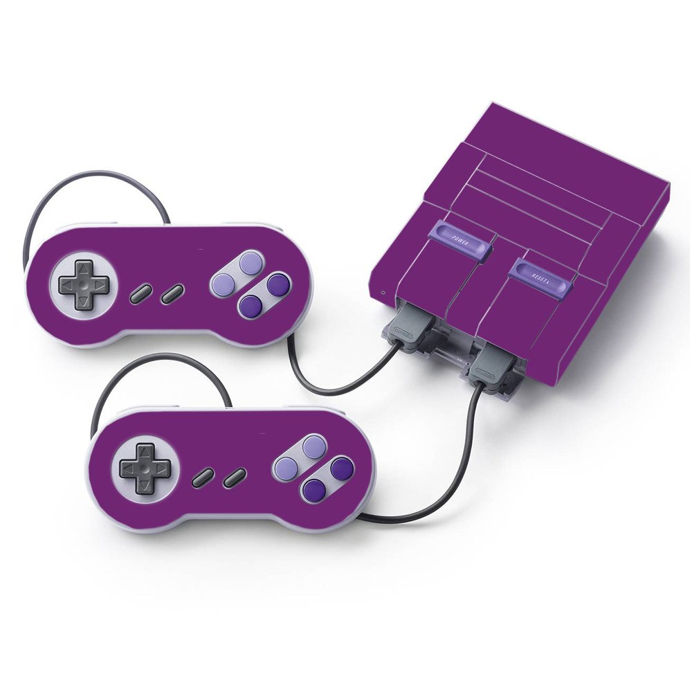 MightySkins Skin for Nintendo Super NES Classic - Solid Purple | Protective, Durable, and Unique Vinyl Decal wrap Cover | Easy to Apply, Remove, and Change Styles | Made in The USA