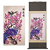 Shayier China 's Intangible Cultural Heritage Chinese Handmade Paper-cut Chinese Paper-cut Art Wall Scroll (Spring_2)