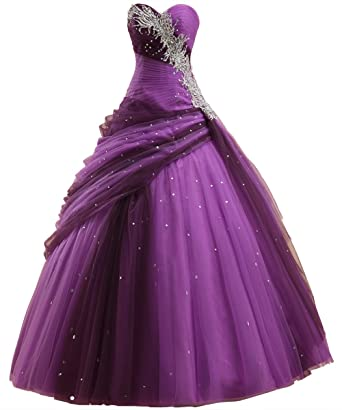 Callmelady Sweet Sixteen Prom Dresses Long For Quinceanera Evening Party: Amazon.co.uk: Clothing