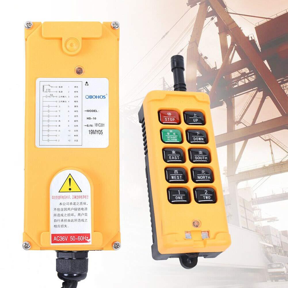 US DELIVER 10 Key 12V Wireless Crane Remote Control Industrial Industrial Channel Hoist Crane by US DELIVER