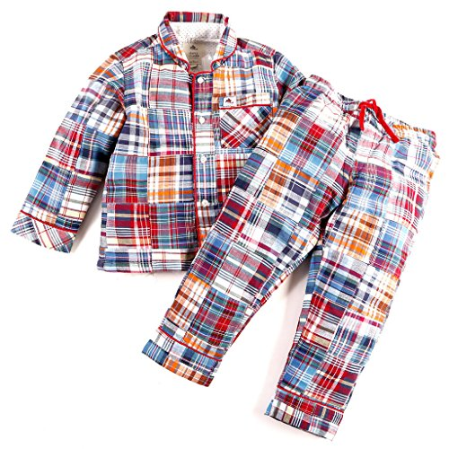 Cherry Crumble Cotton Madras Print Shirt Top n Pyjama Set for Girl (2-3 Years)