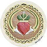 Claddagh - Cast Paper - Irish Blessing - wedding gift - Celtic art - Ireland - love - anniversary - heart - knot - valentine's day