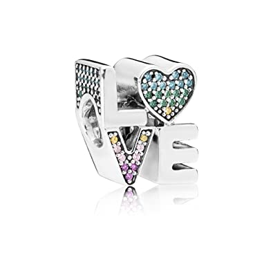 75eb8f1a4 Amazon.com: Pandora Multi-Color Love Charm 797189NRPMX: Jewelry