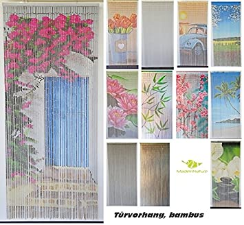 Bambusvorhang Turvorhang Insektenschutzvorhang 90cm X 200cm Mit