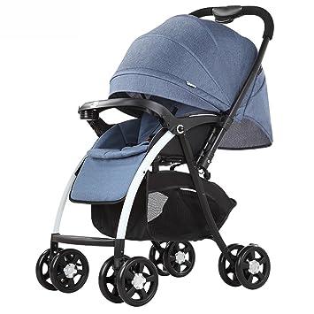 ZXLDP Sillas de paseo Paisaje de alta cochecito de bebé/ puede sentarse o mentir dobló