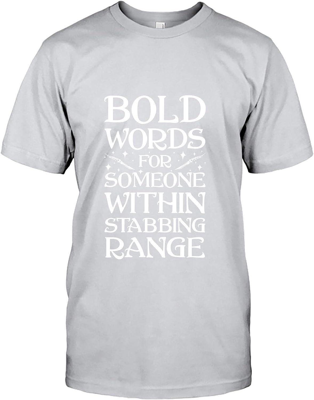 TheOceanPub Designs Camisa Medieval para Hombres y Mujeres con Palabras atrevidas para Alguien Dentro de la Gama de apuñalamiento - - 6X-Large: Amazon.es: Ropa y accesorios